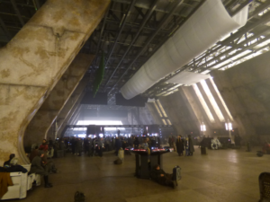 CORELLIA SPACEPORT SET PHOTO BY DOMINIC SIKKING, ON THE 007 STAGES AT PINEWOOD STUDIOS.