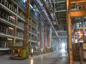 CORELLIA WAREHOUSE INTERIOR LOCATION PHOTO OF THE FAWLEY POWER STATION BY STEVEN RITCHIE.