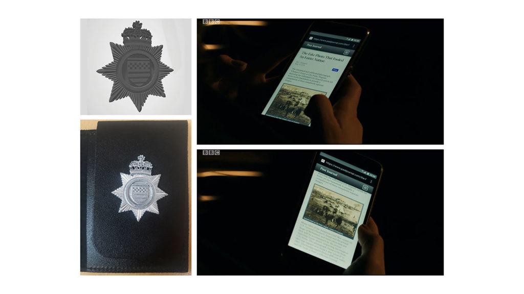 The Capture - AutoCad Model of Police Badge (Designed by Caroline Sandford-Muir), 3D Printed Badge of AutoCad Model, News Website